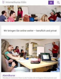 Responsive Webdesign Internetkurse Köln