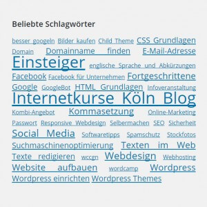 Internetkurse Köln Schlagwörter Wolke