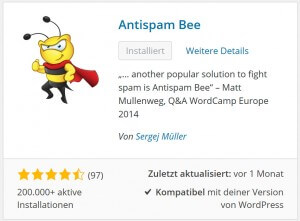 Die Killerbiene kriegt sie alle! - Antispam Bee, das WordPress Plugin