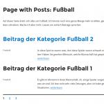 Page with Posts: Eine Seite mit Beiträgen einer Kategorie