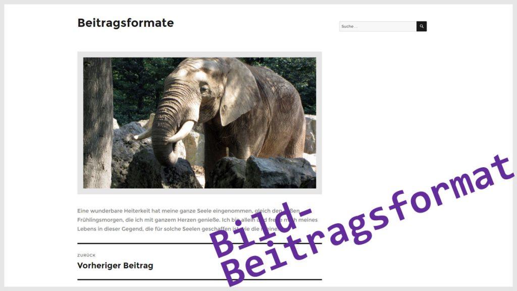 WordPress Beitragsformat Bild