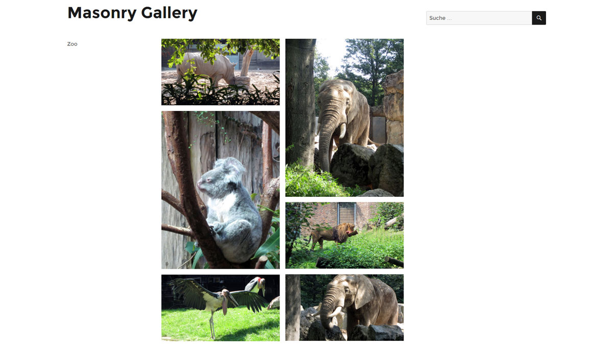 WordPress Masonry Gallery