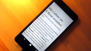 Mit Calibre ein E-Book erstellen