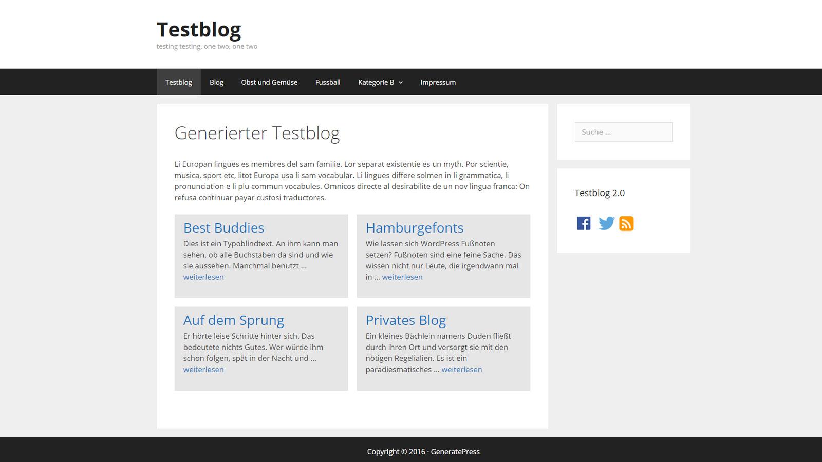 GeneratePress: full-width