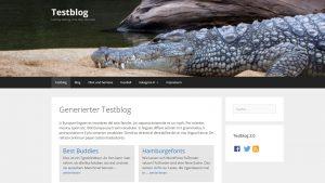 GeneratePress mit Headerbild auf Startseite