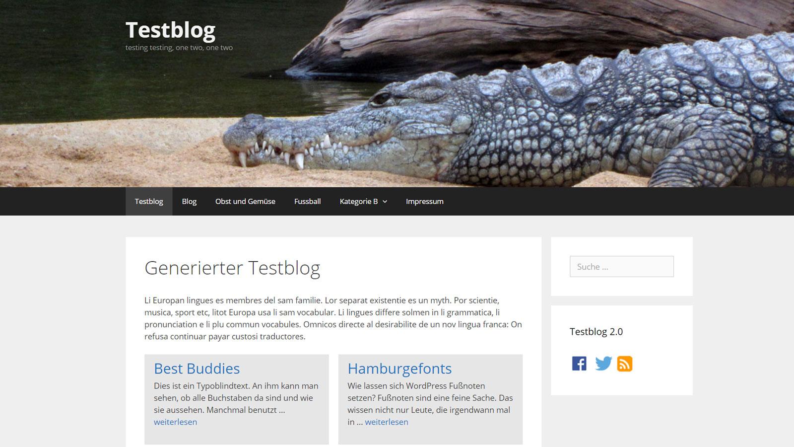 Flexibles WordPress Theme: GeneratePress mit Header nur auf der Startseite