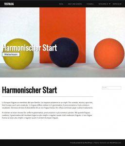 WordPress Theme für Fotos: Harmonic Startseite