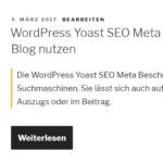 WordPress Yoast SEO Meta Beschreibung