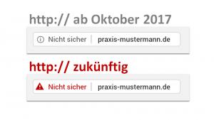 http nicht sicher - Warnung in Chrome
