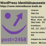 WordPress Seiten ID