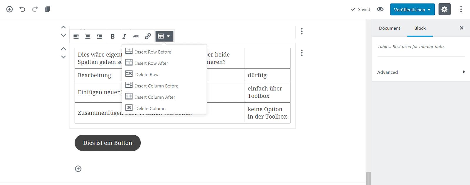 Erster Test mit dem WordPress Gutenberg Editor - Internetkurse Köln
