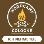 WordCamp Cologne 2017: Ich nehme teil