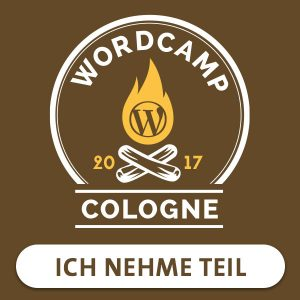 WordCamp Cologne 2017: Ich nehme teil
