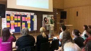 Sessionplanung beim Literaturcamp Bonn 2018 mit den Veranstalterinnen Ute Lange und Uschi Fuchs