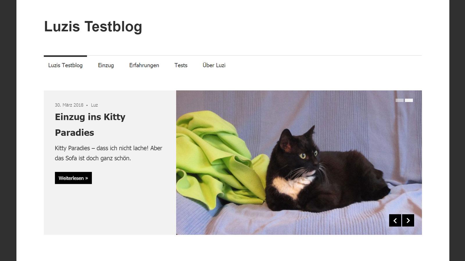 Maxwell Theme: Beitrags-Slider (mit Cat Content)