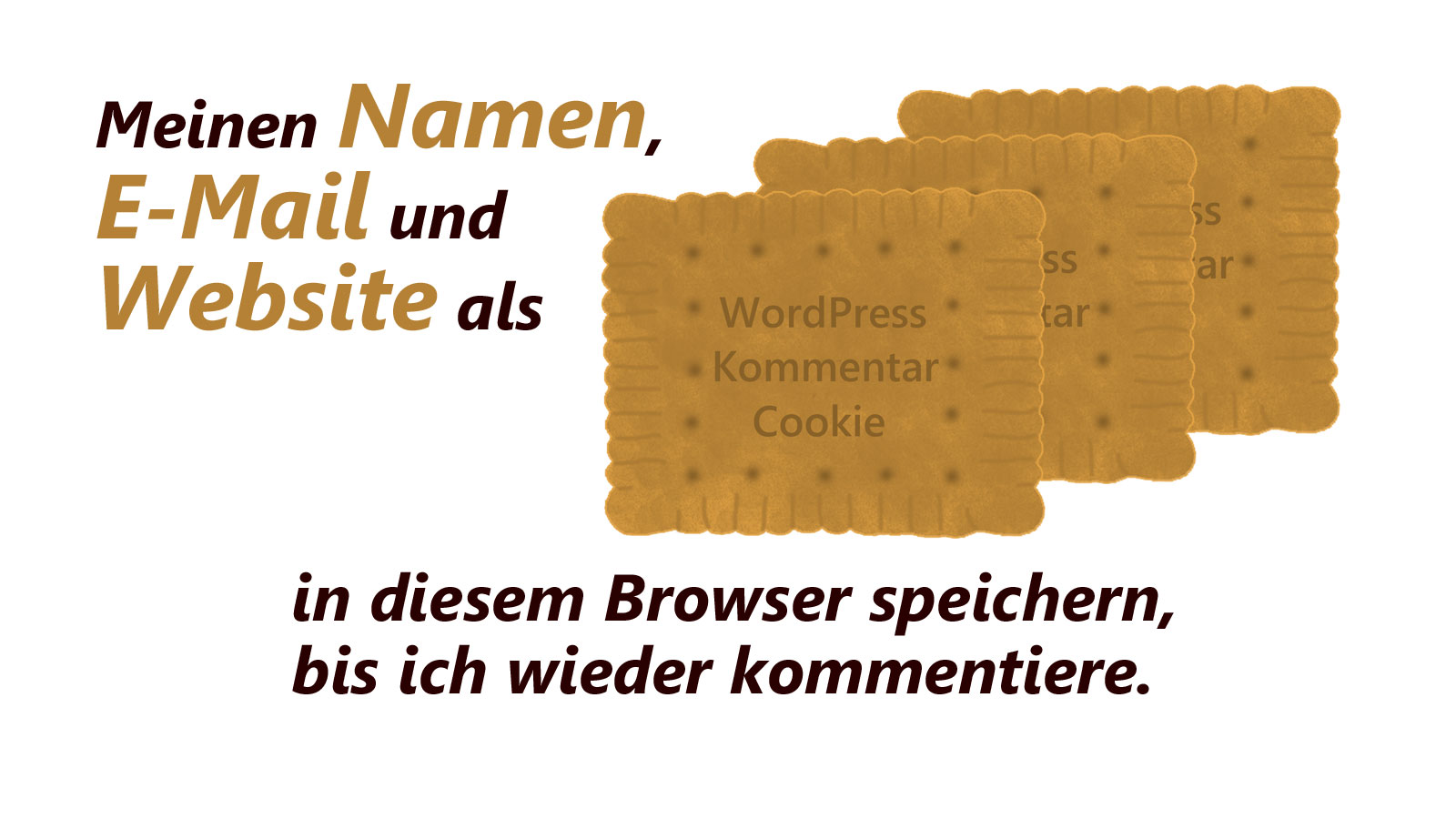 Die WordPress Kommentar Checkbox dient den WordPress Kommentar Cookies
