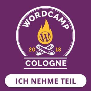 WordCamp Cologne 2018 Badge: Ich habe teilgenommen!