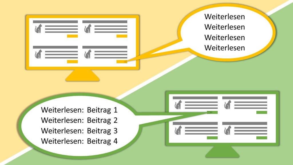 WordPress Weiterlesen Button mit Beitragstitel für Screen Reader