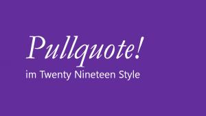 Blockquote mit Gutenberg