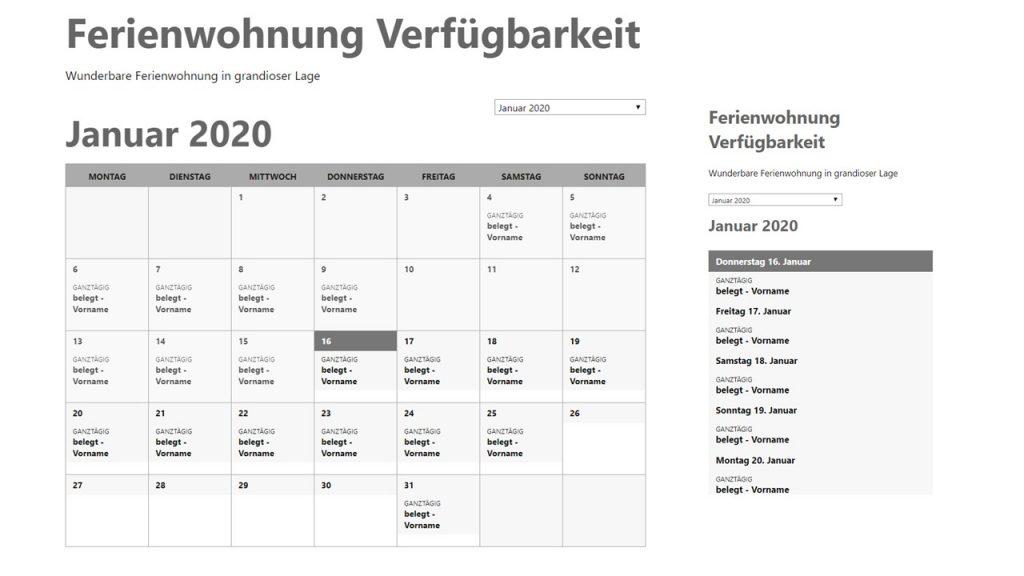 ICS Kalender, unbearbeitet