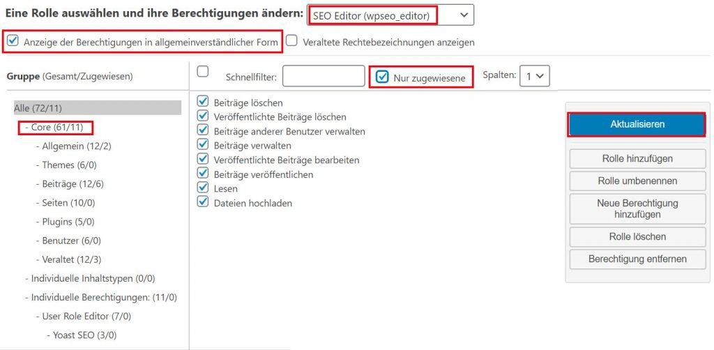 WordPress Bentzerrollen bearbeiten mit User Role Editor