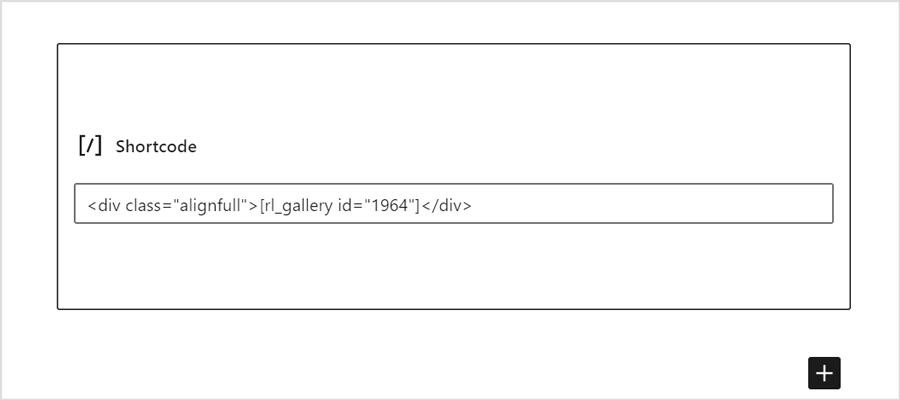 Responsive Gallery mittels Shortcode einbinden und Klasse zuordnen
