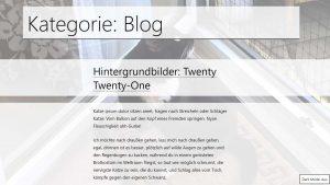 WordPress Hintergrund pro Seite ändern, Theme Twenty Twenty-One hell