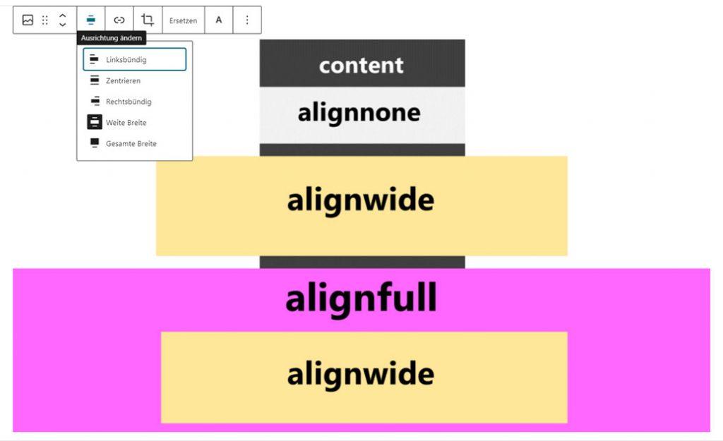WordPress Gutenberg: So ändern Sie die Ausrichtung